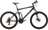 """Ks Cycling Fiets 26 inch fully-mountainbike """"Insomnia"""" met 21 versnellingen zwart - 50 cm"""