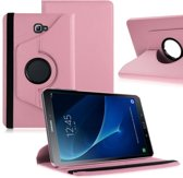 Samsung Galaxy Tab A 10.1 (2016) draaibare cover hoes licht roze