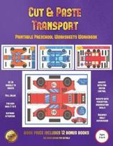 Printable Preschool Worksheets Workbook (Cut and Paste Transport)