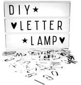 LED Lightbox A4 - Cinema Lichtbox Letterbak Met Letters Set - Lichtbak - Zwart/Wit
