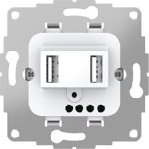 2USB chargeUP TAE 12W / 2.4A - USB stopcontact in Glanzend Wit