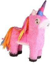 Pinata roze eenhoorn/unicorn 40 cm