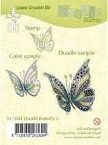 LeCrea - Doodle stempel Butterfly 2. 55.1604
