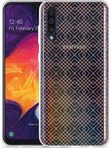 Galaxy A30s Hoesje Geometric Pink