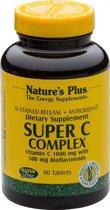 Super C Complex  Sustained Release, Vertraagde afgifte Vitamine C complex, 90 tabletten, Nature's Plus