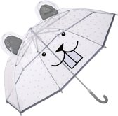 Bloomingville - Kids Paraplu Plastic - Grijs/Wit/Zwart - 76xL59 cm