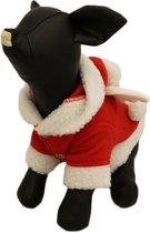 Fleece kostuum voor de kerst - S ( rug lengte 22 cm, borst omvang 32 cm, nek omvang 26 cm )