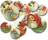 Jenni Bowlin chipboard buttons vintage christmas