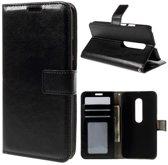Cyclone wallet hoesje zwart Motorola Moto X Play