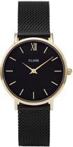 CLUSE CL30026 Minuit Mesh - Horloge - Staal - Zwart - Ø 33 mm