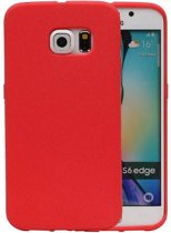 Samsung Galaxy S6 Edge Hoesje Sand Look TPU Rood