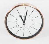 Wall Clock - wandKlok - Rond - Koper - Ø30cm - Wit