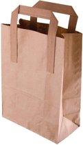 Bruine papieren zakken groot (250 stuks)