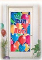Deurposter The party is here 76 x 152 cm
