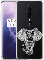 OnePlus 7 Pro Hoesje Elephant Mandala White