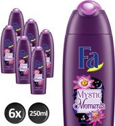 Fa Mystic Moments Shea Butter&Passion Flower - 6x 250 ml - Voordeelverpakking - Douchegel