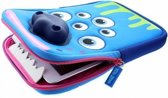 TabZoo tablet hoes 7 / 8 inch Blauw Monster