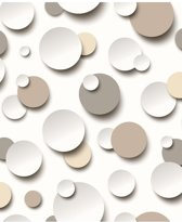 Dutch Wallcoverings vliesbehang cirkels - beige