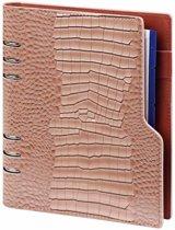 Kalpa 1016-63 Compact A5 organiser Gloss Croco Taupe - 2020 2021