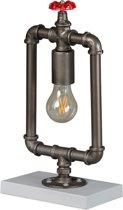 Tafellamp Fire Hose 37cm Vintage Zilver