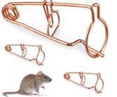 relaxdays muizenvallen - set van 3 -  muizenval - woelmuisval - draadval