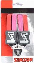Simson Snelbinder Kort roze-rood