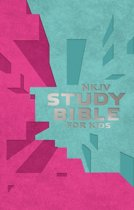 NKJV, Study Bible for Kids, Leatherflex, Pink/Teal