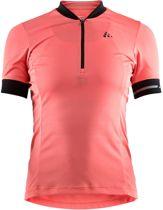 Craft Point Jersey Fietsshirt - Dames - Dahlia/Black