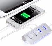 Aluminium USB Hub - 4 poorten - Zilver