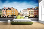 Fotobehang vinyl - Stadsplein Warschau breedte 380 cm x hoogte 265 cm - Foto print op behang (in 7 formaten beschikbaar)