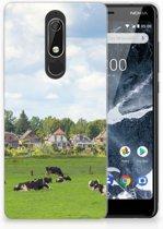 Nokia 5.1 (2018) Uniek TPU Hoesje Koeien