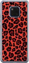 Huawei Mate 20 Pro siliconen telefoonhoesje - Luipaard rood