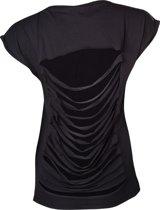Alchemy - Womans Top Malibu Laces Skull Black - S