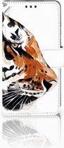 Huawei P30 Uniek Boekhoesje Watercolor Tiger