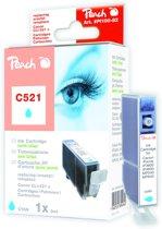 Peach C521 - Inktcartridge Canon CLI-521 - Cyaan