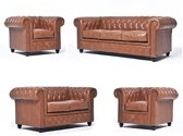 The Chesterfield Brand Vintage - 3+2+1+1 zits - Mokka