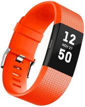 FitBit Charge 2 Bandje Oranje – Luxe Silicone FitBit Bands - large