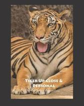 Tiger Up Close & Personal Dot Grid 8x10 Notebook Journal