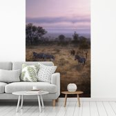 Fotobehang vinyl - Nationaal Park Kruger in Zuid-Afrika breedte 190 cm x hoogte 280 cm - Foto print op behang (in 7 formaten beschikbaar)