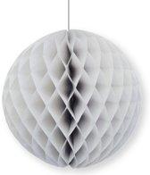 Decoratie bol grijs 10 cm - papieren kerstbal