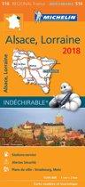 Alsace et lorraine 17516 carte michelin kaart 2018