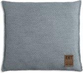 Knit Factory Zoë Kussen - Stone Green Mêlee 50 x 50 cm