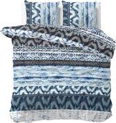 Sleeptime Shibori Retro - Dekbedovertrekset - Lits-Jumeaux - 240x200/220 + 2 kussenslopen 60x70 - Blauw