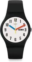 Swatch Originals New Gent horloge Elementary  - Zwart