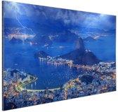 FotoCadeau.nl - Onweer in Rio de Janeiro Aluminium 30x20 cm - Foto print op Aluminium (metaal wanddecoratie)