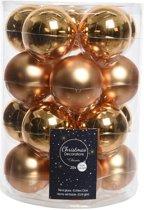 Glas Kerstballen (6cm) Box 20 Stuks Messing Goud