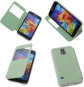 View Cover Groen Samsung Galaxy S5 Stand Case TPU Book-style