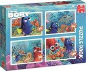 Disney Finding Dory 4in1 Puzzel 4 legpuzzels met ieder een verschillend aantal stukjes