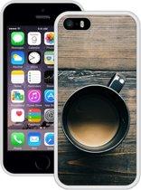 Case Creatives Telefoonhoesje Koffiemok -  iPhone 5, 5s, SE   Wit - Handgemaakt