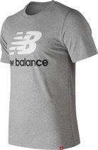 New Balance Essentials Stack L T Shirt Heren - Grey